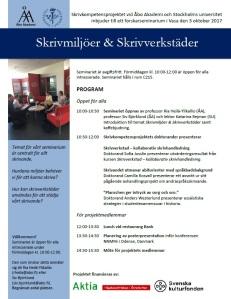 Skrivmiljöer & Skrivverkstäder program 3.10